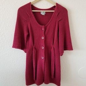Tabitha Heavy Knit Cardigan Pink Size XS